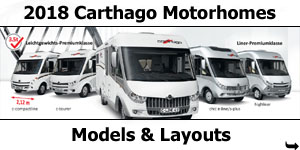 2018 Carthago Motorhomes Models and Layouts