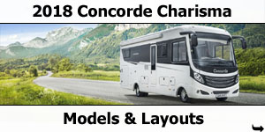 2018 Concorde Charisma Motorhome Models & Layouts