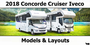 2018 Concorde Cruiser Iveco Motorhome Models & Layouts