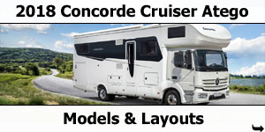 2018 Concorde Cruiser Mercedes-Benz Atego Motorhome Models & Layouts