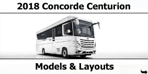 2018 Concorde Centurion Motorhome Models & Layouts