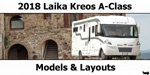 2018 Laika Kreos A-Class Motorhomes Models and Layouts
