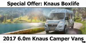 Special Offer: 2017 Knuas Boxlife 600 Camper Vans Low-Profile Motorhomes