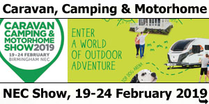 Caravan Camping Motorhome Show 19th-24th February 2019