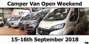 CMT Holiday Show SCamper Van Open Weekend 15-16 September 2018tuttgart 12-20 January 2019