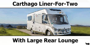 Carthago Launch Liner-For-Two with Large Rear Lounge