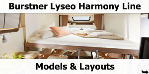 2019 Burstner Lyseo Harmony Line Models and Layouts