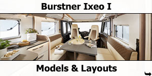 2019 Burstner Ixeo I A-Class Models and Layouts