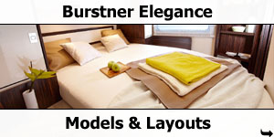 2019 Burstner Elegance A-Class Models and Layouts