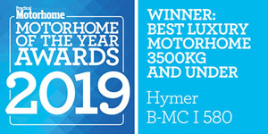 Hymer B-MC I580 Best Luxury Motorhome 3500Kg and Under Award