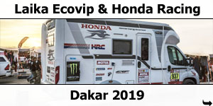 Laika Ecovip and Honda at 2019 Dakar Race