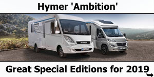 Hymer Introduce Ambition Special Edition Motorhomes for 2019