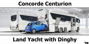 Concorde Centurion The Land Yacht with Dinghy