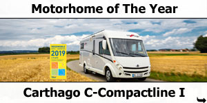Carthago C-Compactline I Motorhome of The Year Award