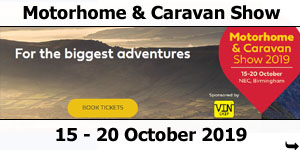 NEC Motorhome and Caravan Show October 2019