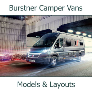 2019 Burstner Camper Vans Models and Layouts