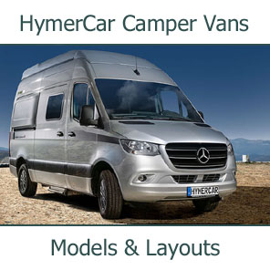 2019 HymerCar Camper Vans Models and Layouts