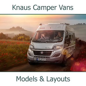 2019 Knaus Camper Vans Models and Layouts