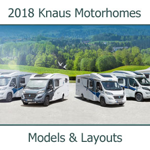 2018 Knaus Motorhomes Models and Layouts