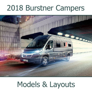 2018 Burstner Camper Vans Models and Layouts