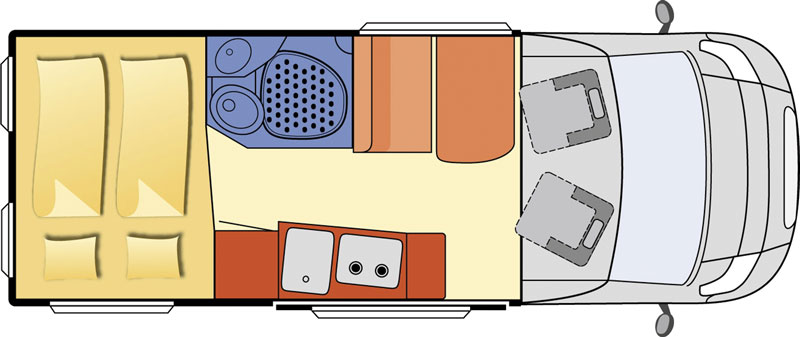 2014 Globecar Globescout Sportive Motorhome Layout Floorplan