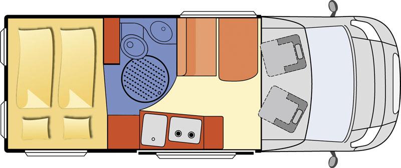 2014 Globecar Globescout Style Motorhome Layout Floorplan