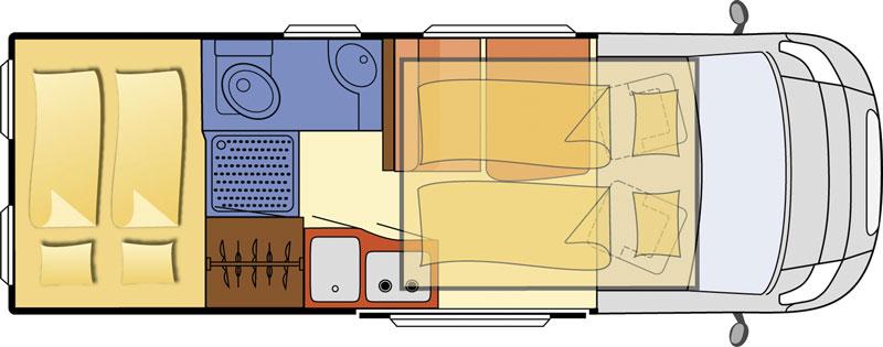 2014 Globecar Globescout Vario Motorhome Layout Floorplan