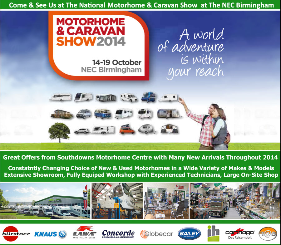 Come & See Us at the NEC Motorhome Show October 2014
