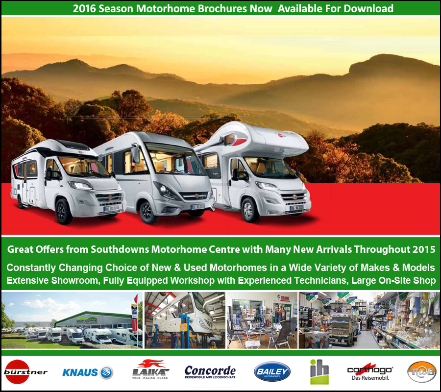 2016 Season Motorhome Brochures For Download at Southdowns