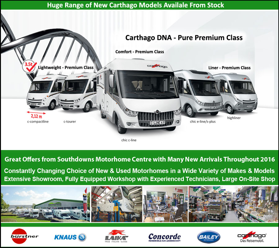 Carthago Motorhomes Available For Sale