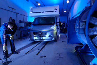 Bailey Motorhomes Crash  Testing at Millbrook Proving Ground 02