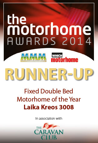 MMM Award Best Fixed Double Bed Motorhome of The Year Runner Up Laika Kreos 3008