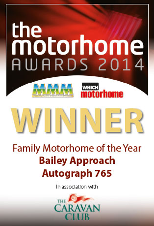 MMM Award Family Motorhome of The Year Winner Bailey Approach Autograph 765 Kreos 3008