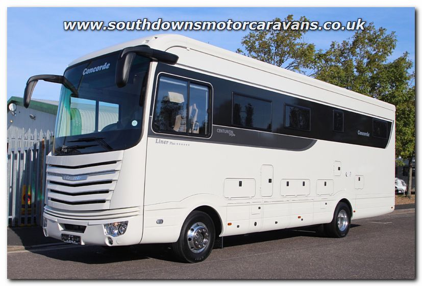 Southdowns new 2016 lhd concorde liner plus 990g for Class a rv with car garage