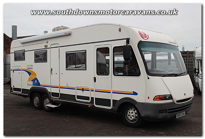 southdowns used eura mobil 810 hb fiat 2 8l a class tag axle motorhome u200637 photo gallery. Black Bedroom Furniture Sets. Home Design Ideas