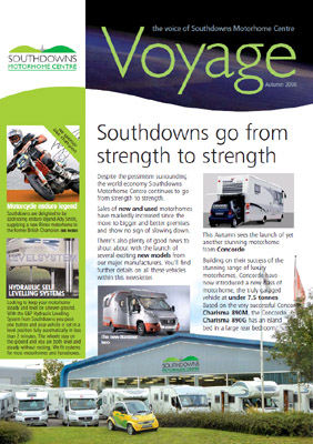 Voyage 2 The Voice of Southdowns Motorhome Centre Autumn 2008