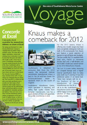 Voyage 7 The Voice of Southdowns Motorhome Centre Spring Spring 2012