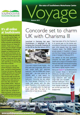 Voyage 8 The Voice of Southdowns Motorhome Centre Spring Spring 2012